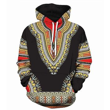 3D Traditional Print Hoodies Men Women 2018 Fashion African Dashiki Hoodie Sweatshirts Men Hip Hop Streetwear Hoody Tracksuit
