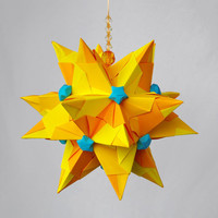 Origami paper ball Tornillo Sunbeam in Lucky Stars  by Waveoflight
