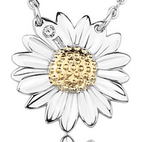 High Quality Silver Sunflower Pendant