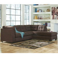 Flash Furniture Benchcraft Maier Sectional with Right Side Facing Chaise in Walnut Microfiber [FBC-2349RFSEC-WAL-GG]