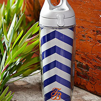 Tommy Bahama Blue/White Chevron Stripe Tervis Water Bottle - Island Trends