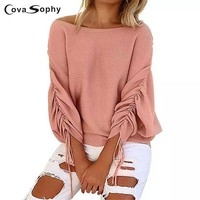 Knitted Autumn Blouse Long Sleeve