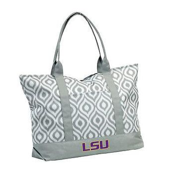 Licensed LSU Tigers Official NCAA Ikat Tote by Logo Chair Inc. 056935 KO_19_1