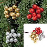 10X XMAS Pine Baubles Fruit Hanging Christmas Tree Decorations Party Ornaments L