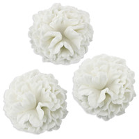 White Carnation Gum Paste Flowers