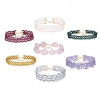 7pcs/lot Lace Chockers