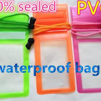 DCCKL3Z Fashion Universal Sealed Waterproof Durable Water Proof Pouch With Lanyard Phone Cover Case For iPhone For iPod Money EC244