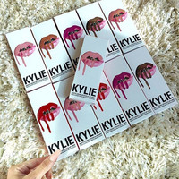 Presell Kylie Lip Kit by kylie jenner Lipstick Kylie set with cosmetic lipliner lip gloss liquid  matte 8 colors lipliner