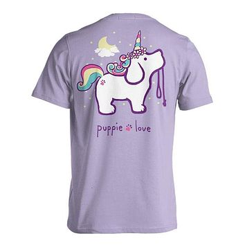 Unicorn Pup Short Sleeve Tee in Orchid by Puppie Love