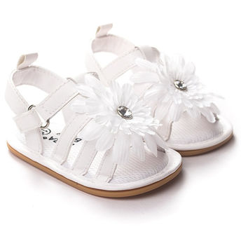 New Cute Baby Girls Sandals Princess Flowers Toddlers Kids Shoe Girl Shoes Kids First Walkers SM6
