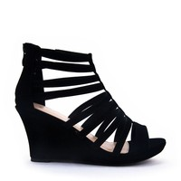 Caged Wedge Sandal