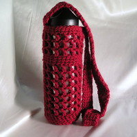 Water Bottle Carrier in Red