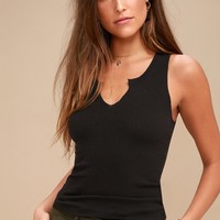 Inca Black Tank Top