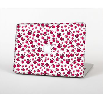 The Red & White Paw Prints Skin for the Apple MacBook Pro 13""