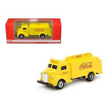 1947 Coca Cola Delivery Bottle Truck Yellow 1:87 Diecast Model