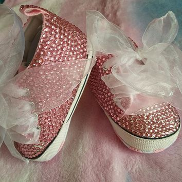 Baby Bling Rhinestone Christening Soft bottom Shoes Baby Girl 81d72f241d