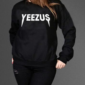 Kanye West Yeezus Sweatshirt Black Unisex Clothing High Quality tee S,M,L and XL (Y2)