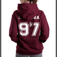 Espinosa 97 White Ink on back Matthew Lee Espinosa Unisex Pullover Hoodie