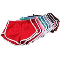 American Candy Colored Retro Plus Size Sexy Stretch Shorts Womens 13colors Causal Loose Beach Hotpants Free Shipping