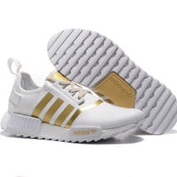 """Women """"Adidas"""" Fashion Trending Beige And Gray Leisure Running Sports Shoes White godlen"""