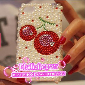 Cherry iPhone 5 case, iPhone case cherry, Cherry iphone 4 case,Pearls iPhone 5 Case, Red Cherry iPhone 4 case, Pearls iPhone Case, A96
