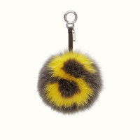 FENDI | ABCHARM S in dark gray and yellow fur