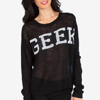 Geek Knit Sweater $40