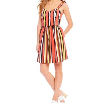 Gianni Bini Kristin Poplin Stripe Dress | Dillards