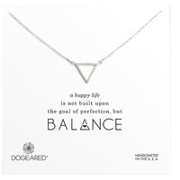 Dogeared Balance Open Triangle Necklace | Dillards