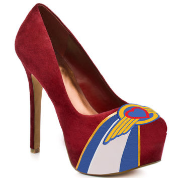 Southwest Airlines High Heel Suede Pumps