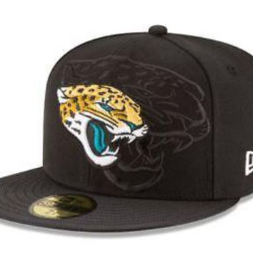 Jacksonville Jaguars Hat Fitted Men's 59FIFTY Official Sideline Black New Era