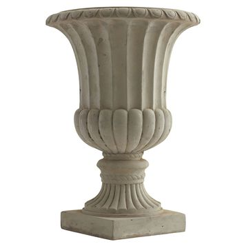 20.25 Inch Sand Colored Tree Plant & Flower Pot Urn