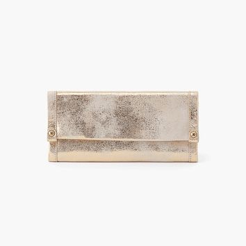 Hobo Fable Wallet - Distressed Gold
