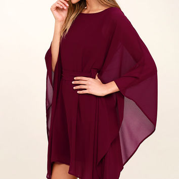 Heavenly Being Burgundy Kaftan Dress