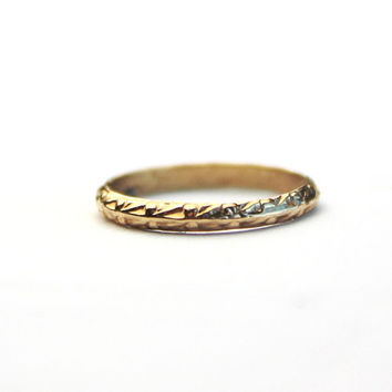 10k Gold Antique Ring / Baby Midi Ring