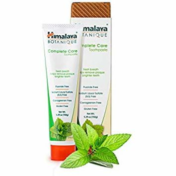 Himalaya Complete Care toothpaste - Simply Mint 5.29 oz/150 gm (1 Pack) Natural, Flouride-Free & SLS Free