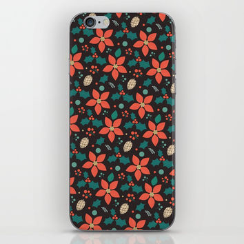 Deck the Halls (Black Background) iPhone Skin by lalainelim