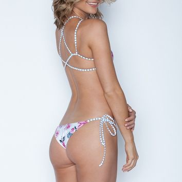 Frankies Bikinis Marley Bottom - Floral Stripe