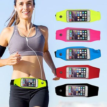 Universal Sport Waterproof Running Bags for iPhone 6S Plus Waist Pack Pouch Mobile Phone Case for Xiaomi Redmi 4 pro