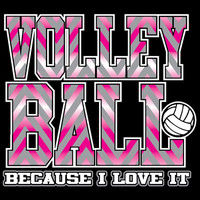Chevron - Volleyball T-shirt by VictorySportsGraphics