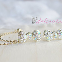 Gold Rhinestone Bow Chain Cartilage Earring / Cartilage Piercing