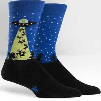 The Alien Who Stole Christmas Men's Crew Socks by Sock It To Me