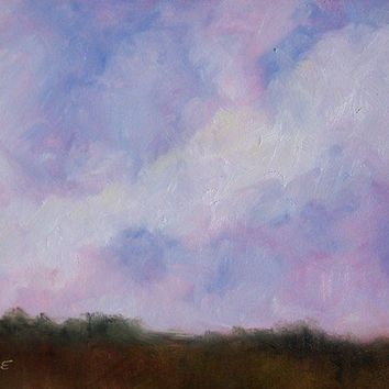 Big Sky Country 5x7 Original Oil Painting by LittletonStudio