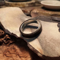 Black Wood With 925 Silver Ring Inlay BP0010101
