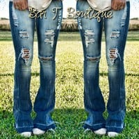 Pre-Order Flare Distressed Jeans