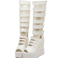Open Toe Platform Wedge