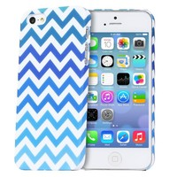 iPhone SE Case, Fosmon MATT Series Rubberized Chevron Case for Apple iPhone SE / 5S / 5 / iPhone SE / 5S / 5S (Blue)