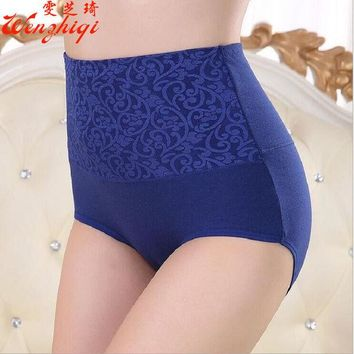 LMFONHS 2017Sexy Women flower  Panties Fashion Designer Body Shaper Hip Abdomen Tummy Control Briefs High Waist Underwear Women's Panty