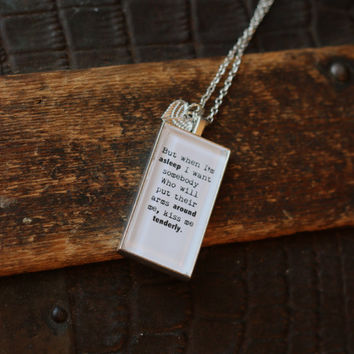 Depeche Mode Necklace, Somebody Lyrics, Depeche Mode, Depeche Mode Lyrics, Depeche Mode Jewelry, Lyrics Necklace, Lyrics Charm, Brother Gift