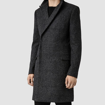 Mens Yuto Coat (Charcoal) | ALLSAINTS.com